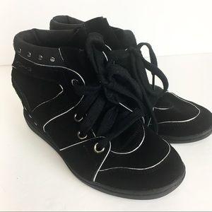 SKCH+3 by Skechers Black Wedge Sneakers 8.5M